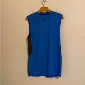 Nike small dry fit blue and black sleeveless shirt